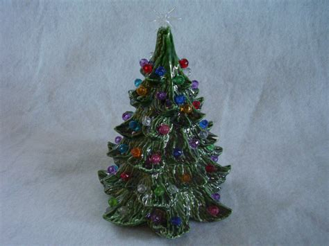 vintage small ceramic christmas tree no base 90 bulbs other