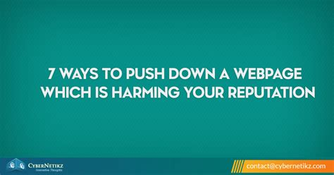 7 Ways To Secure Your Page by 7 Ways To Push A Webpage Which Is Harming Your