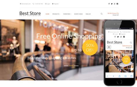 best store templates ecommerce shopping mobile website templates