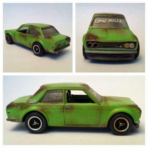 Hotwheels Datsun wheels custom datsun bluebird 510 quot rusted quot look
