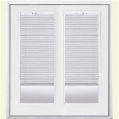 Patio Door Mini Blinds Masonite Primed White Prehung Right Inswing Mini Blind Fiberglass Patio Door With Brickmold