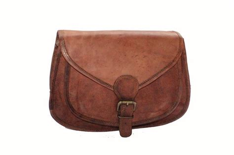 Handcrafted Leather Bags - handmade leather crossbody handbag 11 quot high on leather