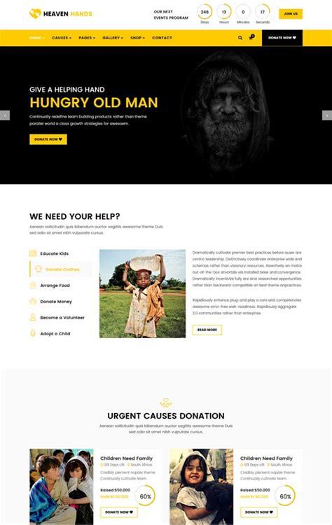 templates for ngo websites 50 best ngo charity website templates free premium