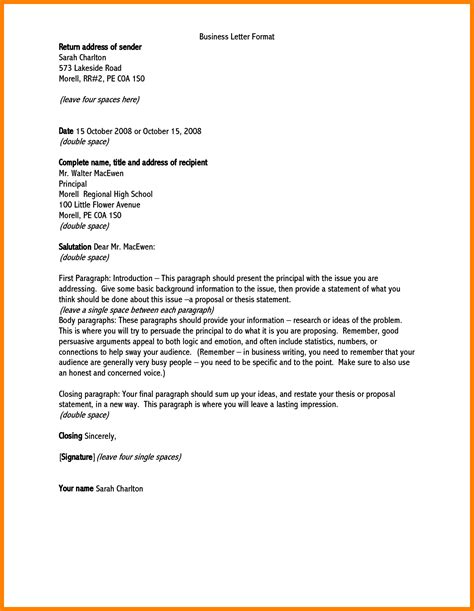 Business Letter Addresses 5 addressing a formal letter science resume