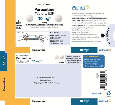 Paroxetine Hcl 10mg Mg Detox Side Effects by Paroxetine Fda Prescribing Information Side Effects And