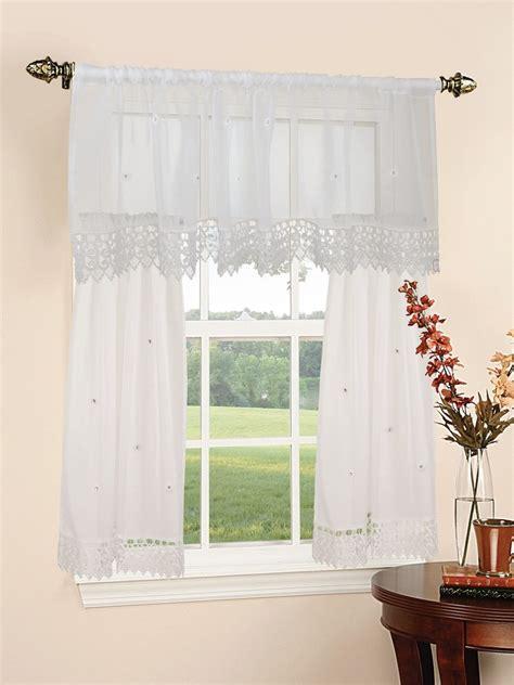 daisy kitchen curtains daisy design sheer 3pc kitchen curtain set 18 quot x60 quot valance
