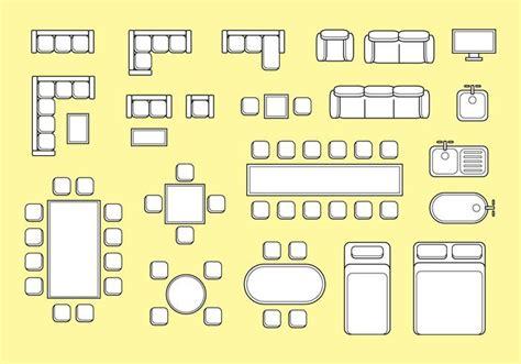 Free Floorplan Furniture Vector Download Free Vector Art Floor Plans Vector