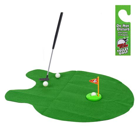 bathroom putting green potty putter toilet golf game mini golf set toilet golf