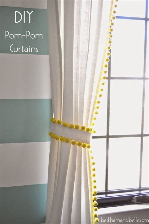 curtain trimmings pom poms diy 15 pom pom trim curtains diy pom poms pom poms and