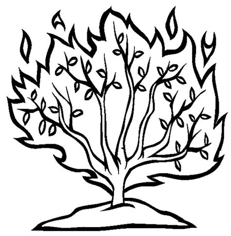 free coloring pages of moses burning bush