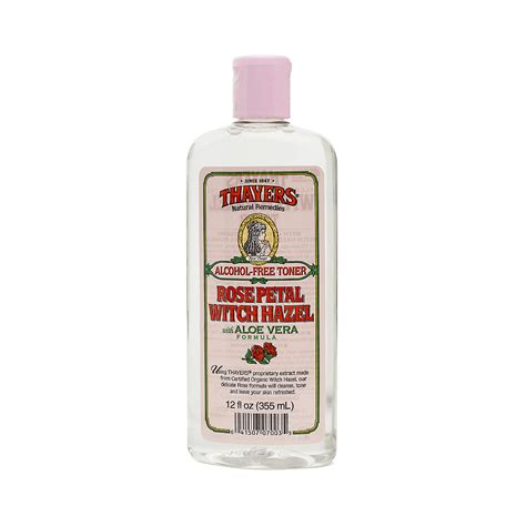 thayers alcohol free rose petal witch hazel with aloe vera 12 fluid ounce thayers free witch hazel toner petal thrive market