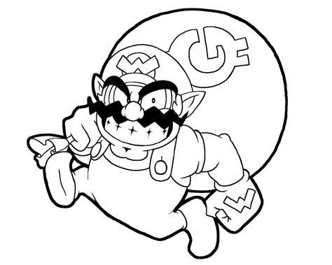 baby wario coloring pages wario lineart by rongs1234 on deviantart