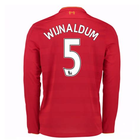 Polo Shirt Liverpool 02 2016 17 liverpool home sleeve shirt wijnaldum 5