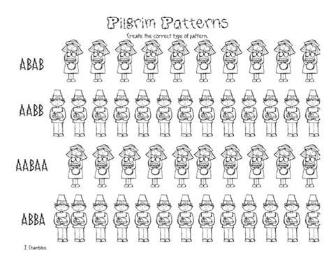 pilgrim pattern kindergarten pilgrim patterns free kindergarten worksheet teach junkie