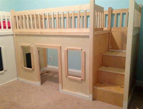 playhouse loft bed best 25 playhouse bed ideas on pinterest toddler playhouse cabin beds for kids and