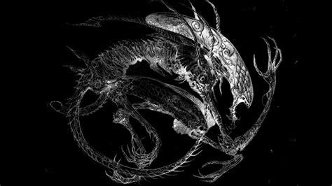 wallpaper sayap hitam wallpaper satu warna naga xenomorph film alien sayap