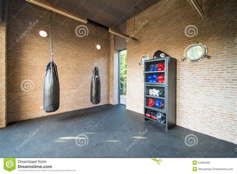 Boxing Room by Boxing Room Mini For Exercise Stock Photo Image