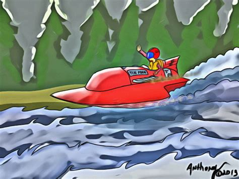 cartoon boat race hydro racing von tonyp sport cartoon toonpool