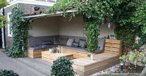 veranda vorm haus mooie loungebank voor in tuin tuin tuin