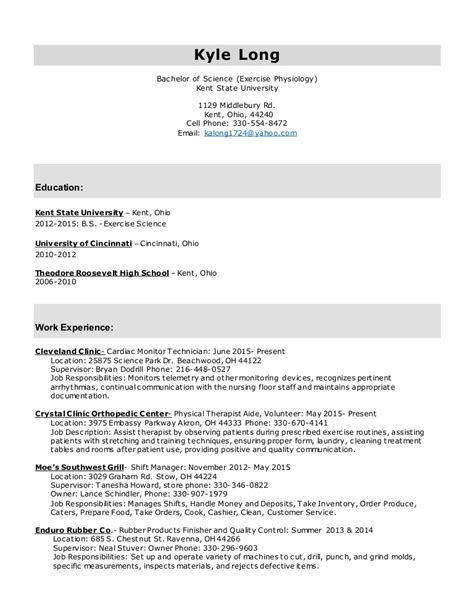 cover letter for kinesiology exercise physiology resume cover letter photos