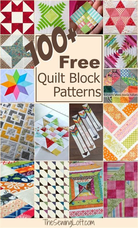 Free Patchwork Blocks - 100 free quilt blocks 100 free lofts and flow