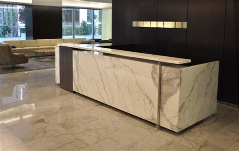 Granite Reception Desk Custom Design Office Furniture Houston Custom Commercial Furniture