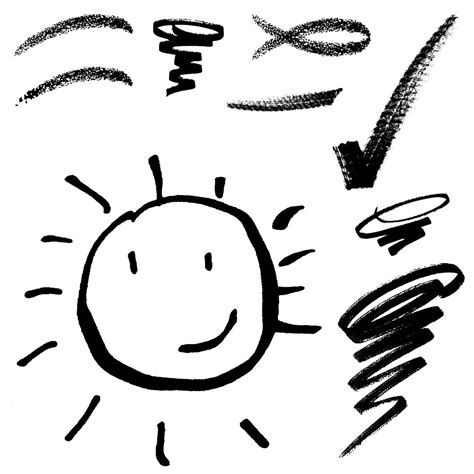 doodle sun meaning sun line drawing clipart best