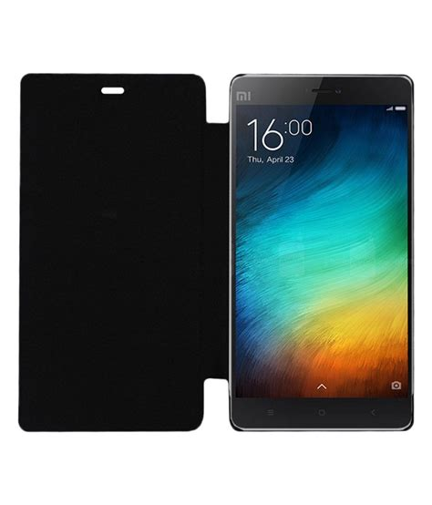 Flipcase Xiaomi Redminote4 Flip Cover Backcase acm flip for xiaomi mi 4i mi4i mobile front and back black flip covers at low