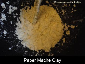 Ingredients To Make Paper Mache - make a velociraptor dinosaur with our paper mache clay recipe