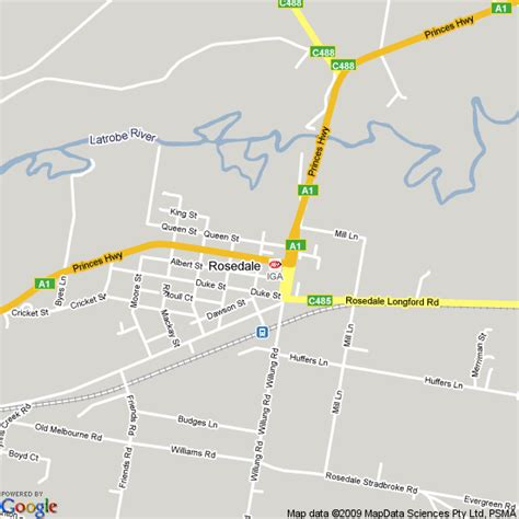 map  rosedale victoria hotels accommodation