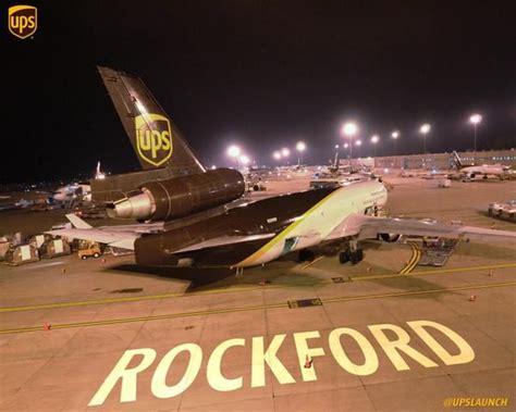 ups cargo plane  rockford regional air hub rockford il