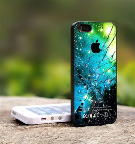 Broken Apple Glass Walpaper R0191 Casing Samsung Galaxy J2 Prime Custo apple logo galaxy nebula cracked glass for iphone 5 image 1011506 by korshun on favim