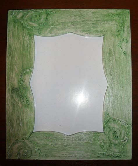 tavolo verde portafoto da tavolo verde in legno dipinta a mano per