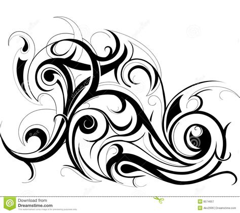 tribal art stock vector illustration of decor swirls