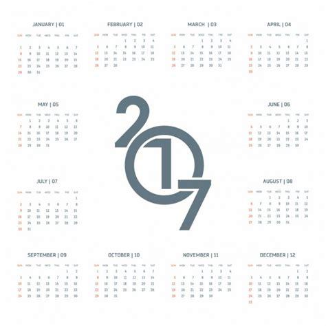 Calendario Moderno Moderno Calendario Para 2017 Descargar Vectores Gratis