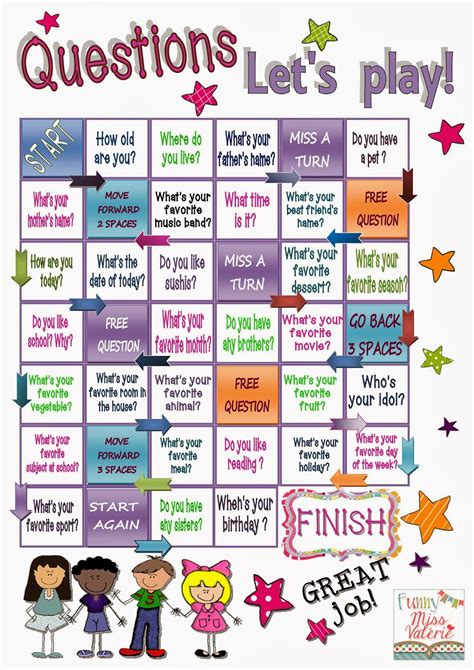 printable word games high school funny miss val 233 rie question words esl pinterest