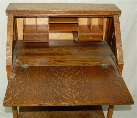 Antique Drop Front Desk With One Drawer Antique Oak Drop Antique Drop Front Desk