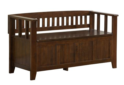 amazon storage benches amazon com simpli home acadian entryway bench rich