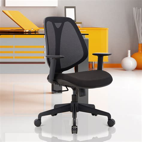 Height Adjustable Recliner Chair by Homcom Office Swivel Chair Reclining Padded Seat