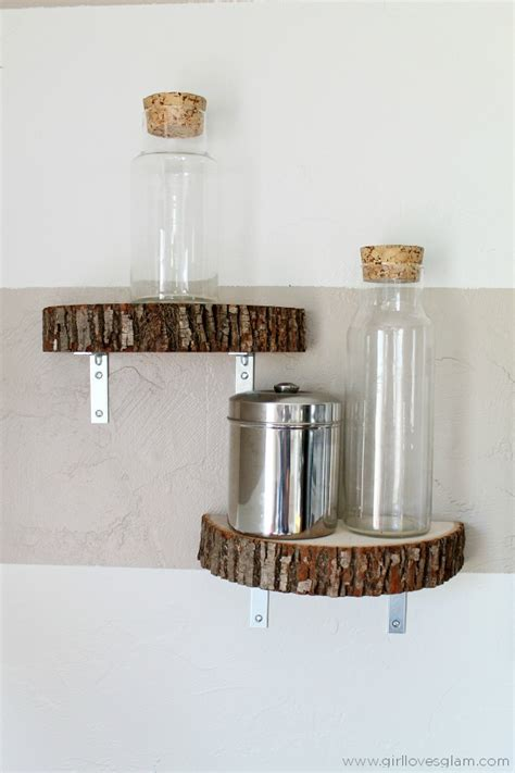 Tree Trunk Shelf by Tree Trunk Decor Add A Touch Of