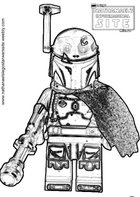 Lego Boba Fett Coloring Page by Coloring Pages Lego Wars Nathanael S Informational