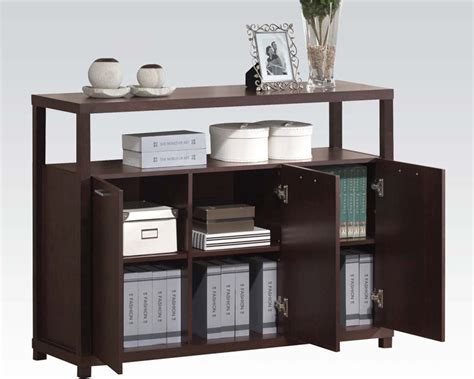 acme furniture cabinet w 3 doors ac08278