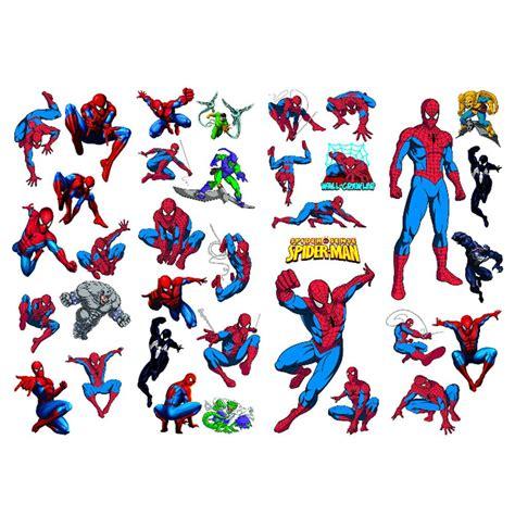 Spiderman Bedroom Decor spiderman 35 piece large wall stickers set new spider man