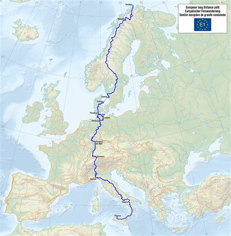 distance maps file map of the european distance path e1 png
