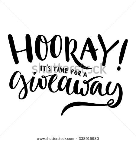 Giveaway Text - hooray it s time for giveaway promo banner for social media contests and special