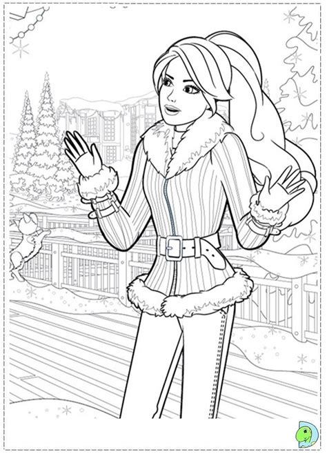 coloring pages barbie christmas 17 best printables images on pinterest barbie coloring