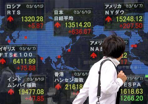asian stocks drop after yen jumps on abe stimulus