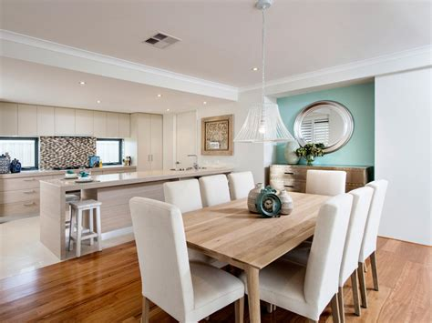 open kitchen to dining room at home interior designing