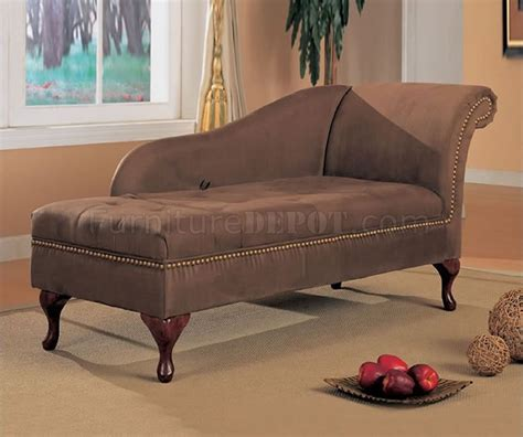brown microfiber chaise lounge chocolate brown microfiber chaise lounge w flip open storage