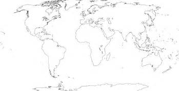 World Map White by Pics Photos World Map Continents Black And White